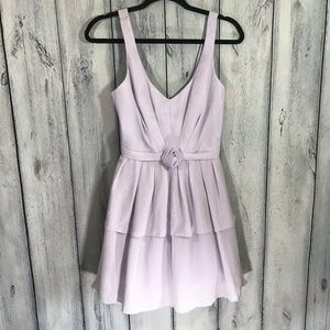 ABS NWT Dress Lilac Tiered Sweetheart Style
